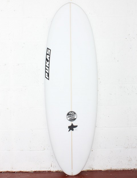 Pukas Resin Cake Surfboard 5ft 8 FCS II - White