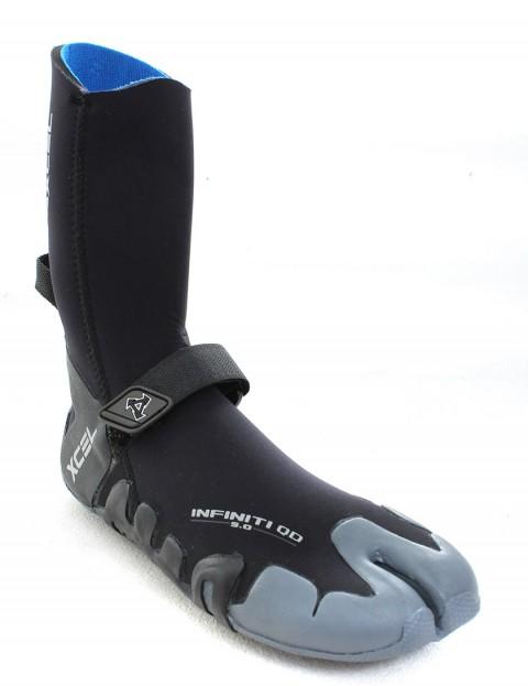 Xcel Infiniti Split Toe 5mm Wetsuit Boots - Black/Grey