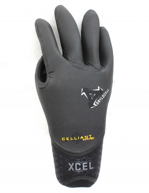 Xcel Drylock 5 Finger 3mm Wetsuit Gloves - Black