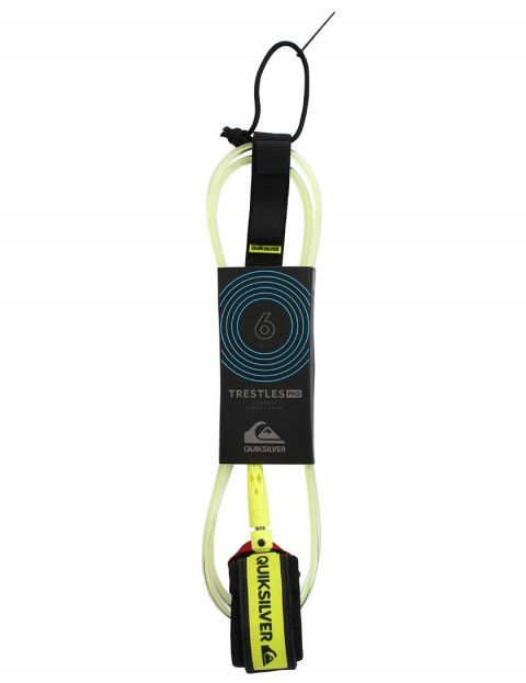 Quiksilver Trestles Pro surfboard leash 6ft - Lime
