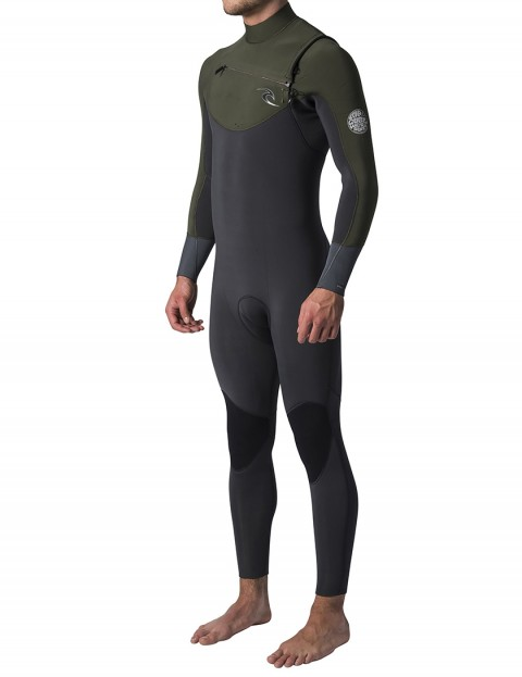 Rip Curl Dawn Patrol Chest Zip 5/3mm Wetsuit 2019 - Khaki