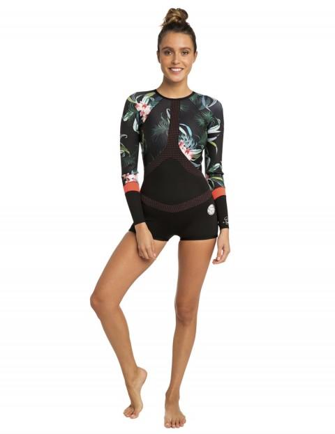 Rip Curl Ladies Madi Long Sleeve Boyleg Shorty 1mm wetsuit 2019 - Coral