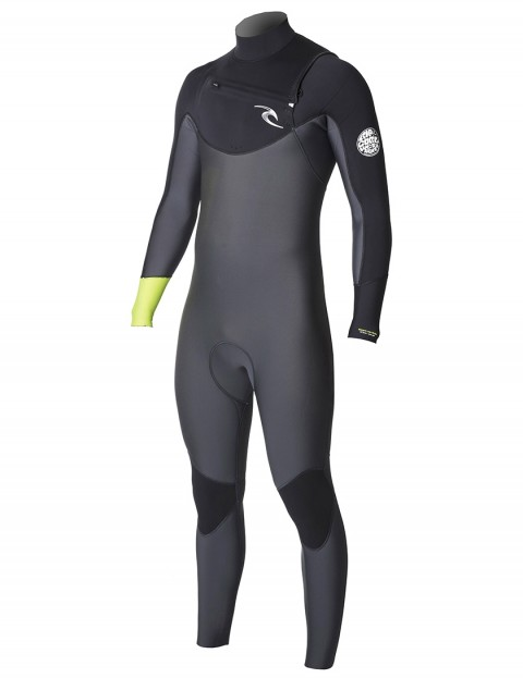 Rip Curl Dawn Patrol Chest Zip 4/3mm Wetsuit 2019 - Lemon