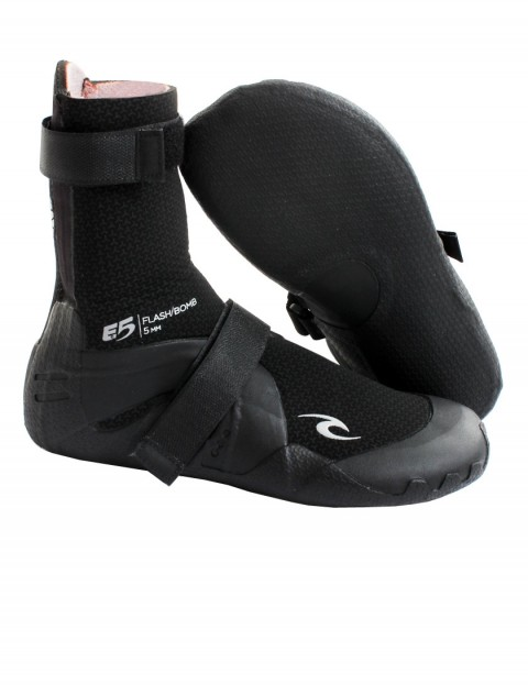 Rip Curl Flash Bomb 5mm Round Toe wetsuit boot - Black