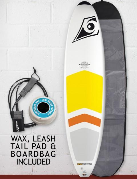 Bic DURA-TEC Padded Mini Malibu surfboard package 7ft 3 - White