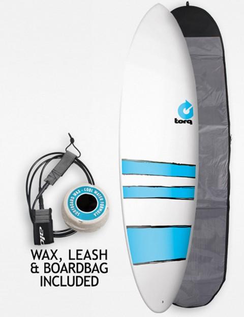 Torq Mod Fun Surfboard Package 6ft 8 - Blue Bands