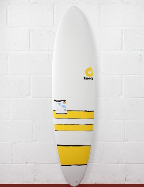 Torq Mod Fun Surfboard 7ft 2 - Yellow Bands