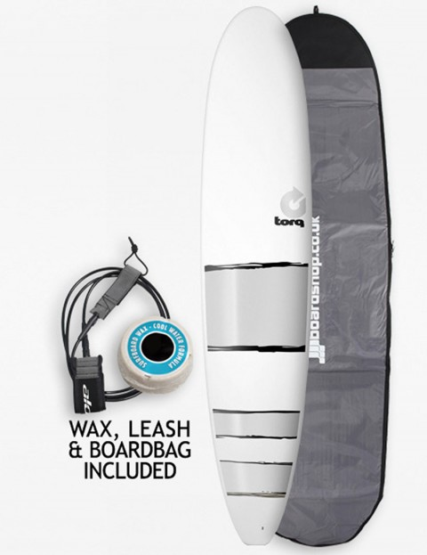 Torq Surfboards Mal Package Surfboard 9ft - Silver Bands