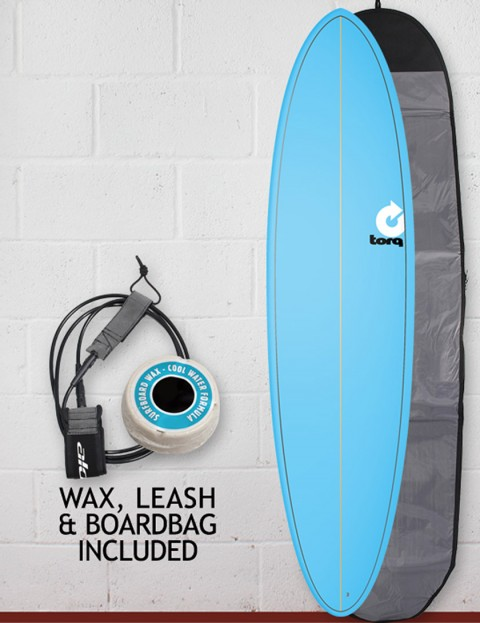 Torq Surfboards Mod Fun Package Surfboard 7ft 2 - Blue Fade Pinline