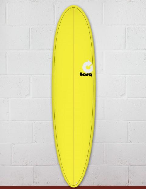 Torq Mod Fun surfboard 7ft 6 - Yellow/Pinline