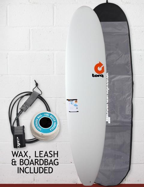 Torq Mini Long Surfboard Package 8ft - Matte White