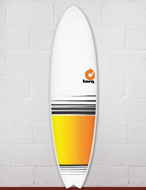 Torq Mod Fish surfboard 7ft 2 - Colour Fade