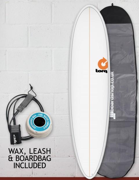 Torq Mod Fun surfboard package 7ft 6 - White Pinline