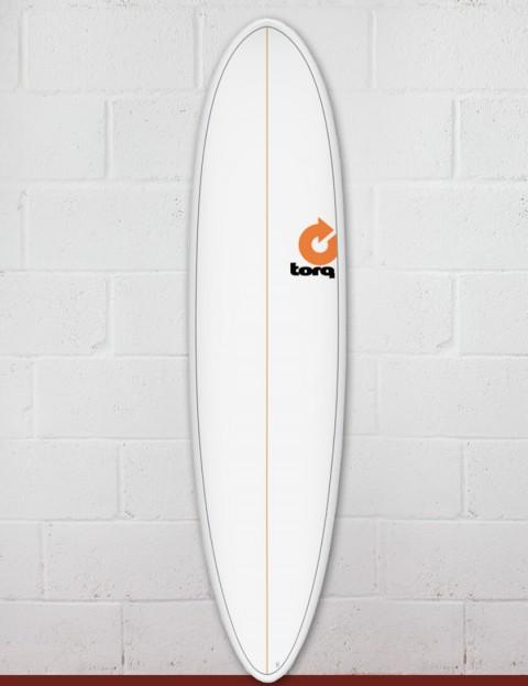 Torq Mod Fun surfboard 7ft 6 - White Pinline