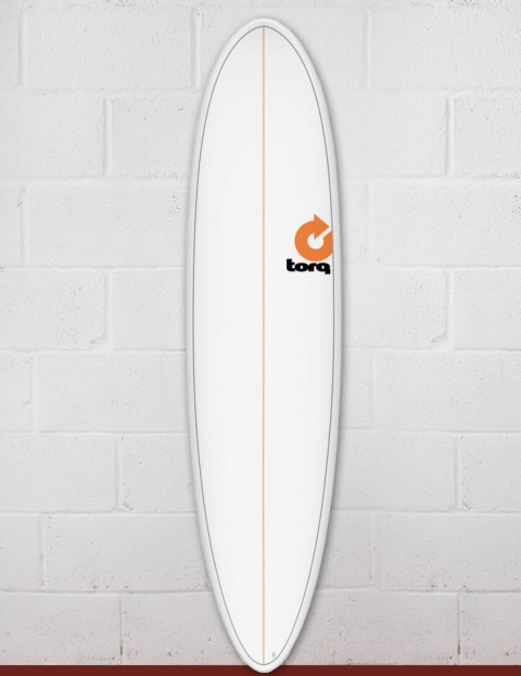 Torq Mod Fun surfboard 7ft 2 - White/Pinline