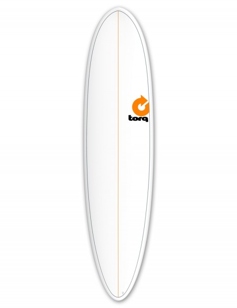 Torq Mod Fun surfboard 7ft 6 - White/Pinline
