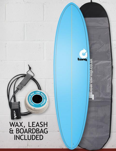 Torq Mod Fun surfboard package 7ft 2 - Pinline Blue
