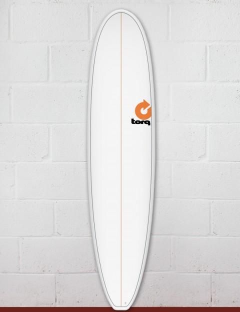 Torq Mini Long Surfboard 8ft 0 - White Pinline