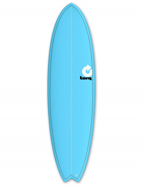Torq Mod Fish surfboard 6ft 10 - Blue/Pinline