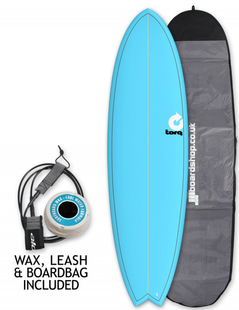 Torq Mod Fish surfboard package 6ft 6 - Blue/Pinline