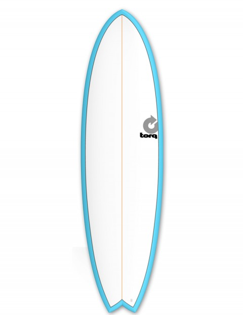 Torq Mod Fish surfboard 6ft 6 - Blue/White/Pinline