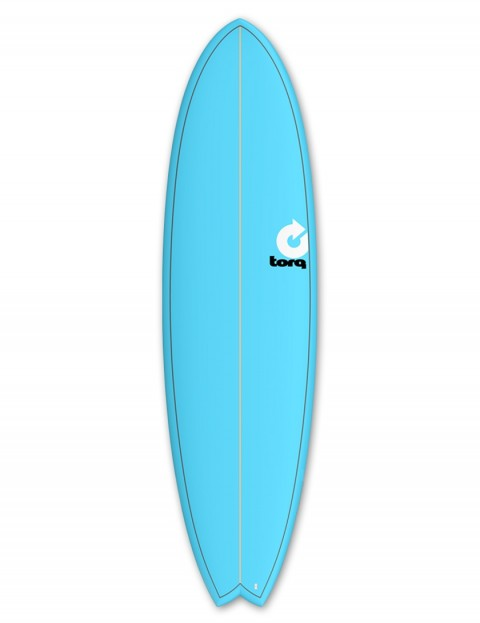 Torq Mod Fish surfboard 7ft 2 - Blue/Pinline