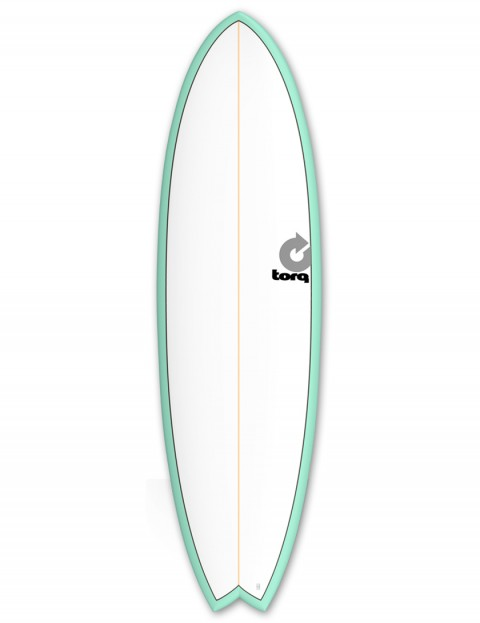 Torq Mod Fish surfboard 7ft 2 - Sea Green/White/Pinline