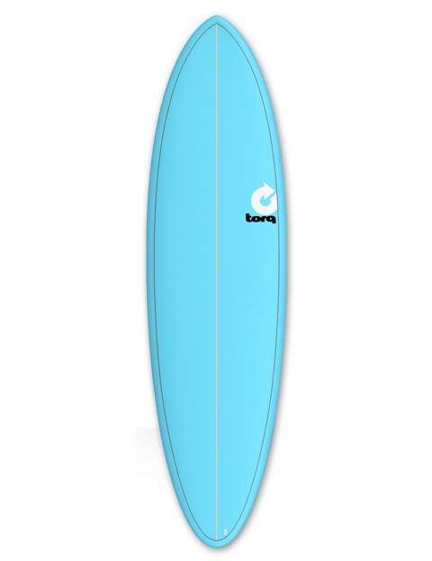 Torq Mod Fun surfboard 6ft 8 - Blue/Pinline