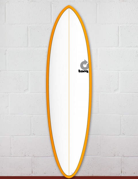 Torq Mod Fun surfboard 6ft 8 - Orange/White/Pinline