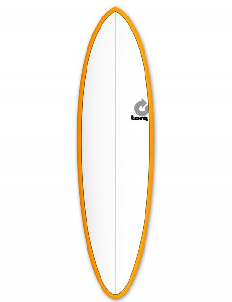 Torq Mod Fun surfboard 6ft 8 - Orange/White/Pinline