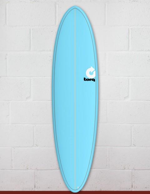 Torq Mod Fun surfboard 7ft 2 - Blue/Pinline