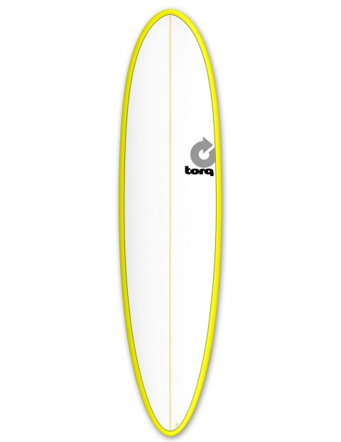 Torq Mod Fun surfboard 7ft 6 - Yellow/White/Pinline