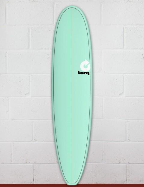Torq Mini Long surfboard 8ft 0 - Sea Green/Pinline