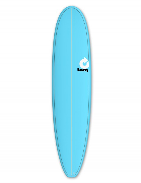 Torq Mini Long surfboard 8ft 0 - Blue/Pinline