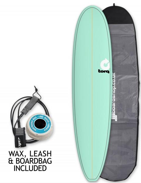 Torq Longboard surfboard package 8ft 6 - Sea Green/Pinline