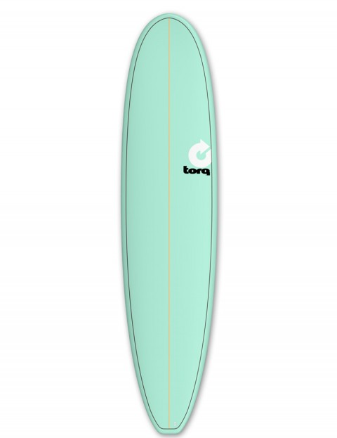 Torq Mini Long surfboard 8ft 0 - Sea Green/Pinline