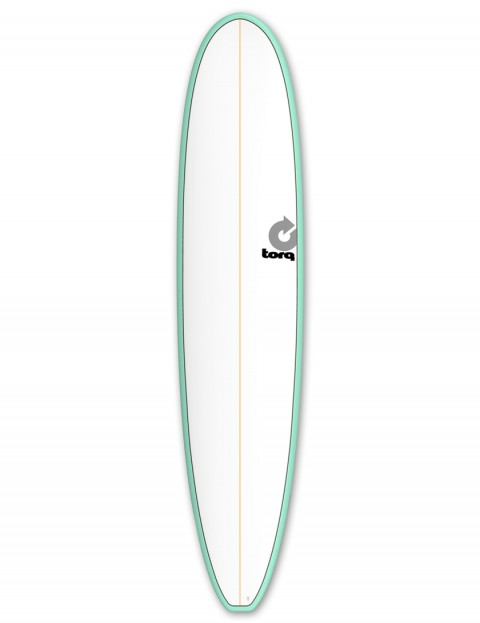 Torq Longboard Surfboard 9ft 0 - Sea Green/White/Pinline