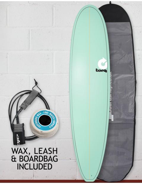 Torq Mini Long Surfboard package 8ft 0 - Pinline/Seagreen