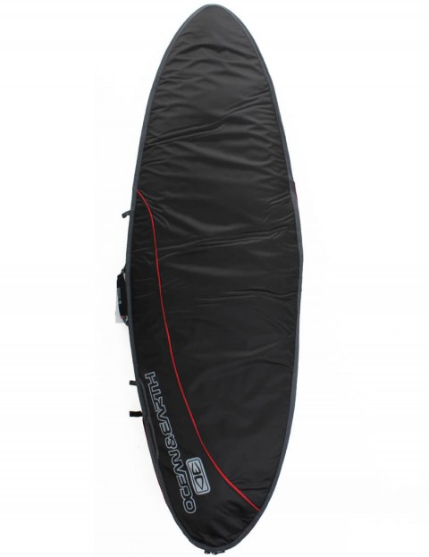 Ocean & Earth Aircon Fish Surfboard Bag 10mm 6ft 0 - Black/Red