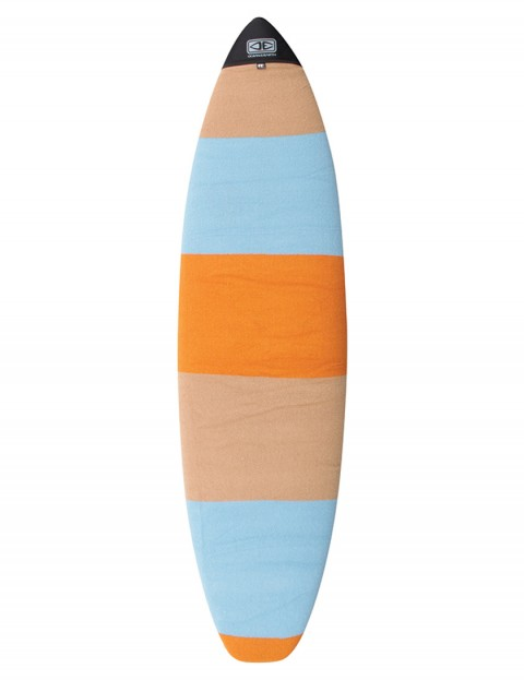 Ocean & Earth Fish Surfboard Stretch Cover 7ft 0 - Orange Solid Stripe