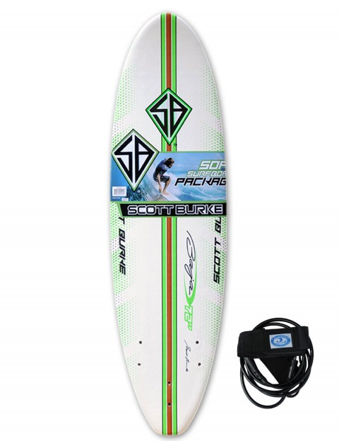 California Board Company Scott Burke Seventy Two Soft Surfboard 6ft 0 - Green