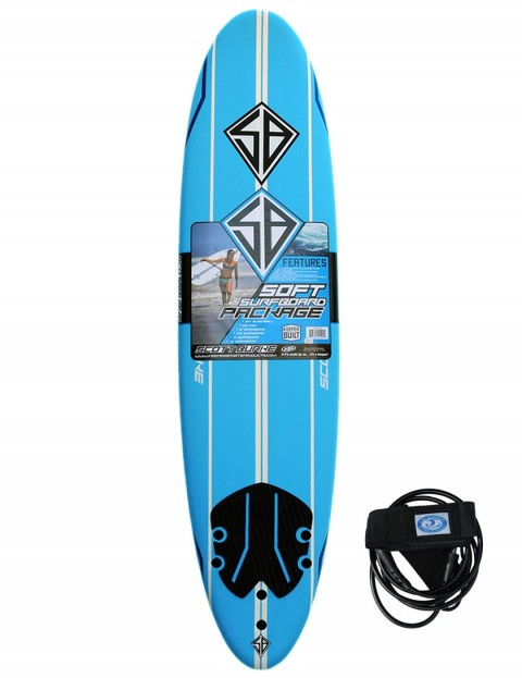 California Board Company Scott Burke Ninety Soft Surfboard 7ft 6 - Blue