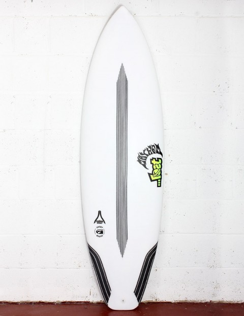 Lost Short Round Surfboard Carbon Wrap 5ft 10 FCS II - White