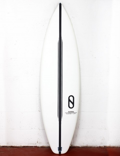 Slater Designs LFT Gamma surfboard (high performance dims) 5ft 8 Futures - White