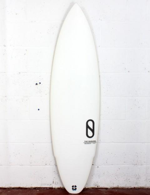 Slater Designs Banana surfboard 6ft 0 FCS II - White