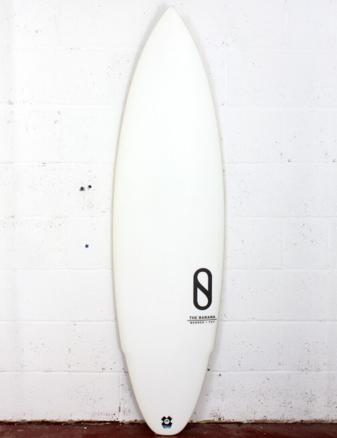 Slater Designs Banana surfboard 5ft 11 FCS II - White