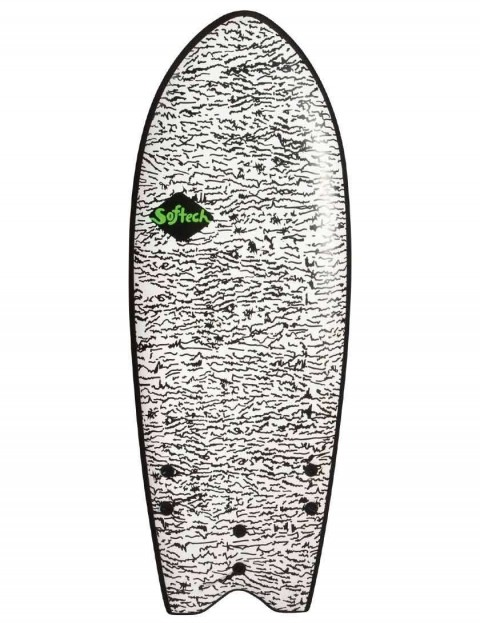 Softech Kyuss King Rocket Fish soft surfboard 5ft 8 FCS II - White