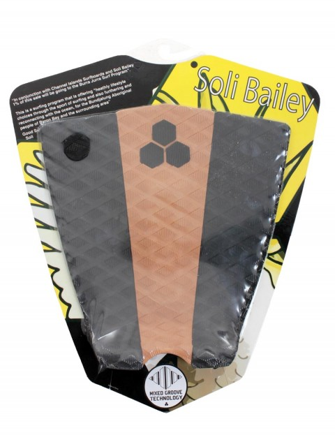 Channel Islands Soli Bailey surfboard tail pad - Black/Tan/Black