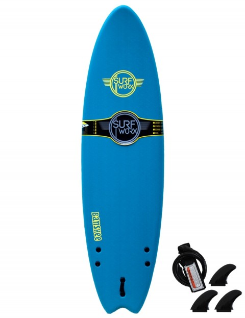 Surfworx Banshee Hybrid soft surfboard 6ft 0 - Blue