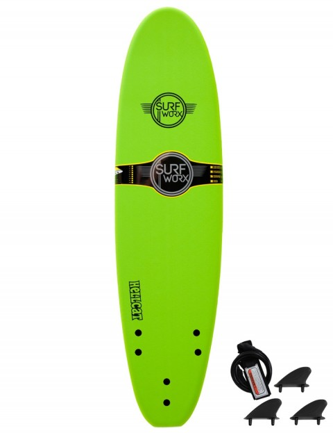 Surfworx Hellcat Mini Mal soft surfboard 7ft 0 - Apple Green